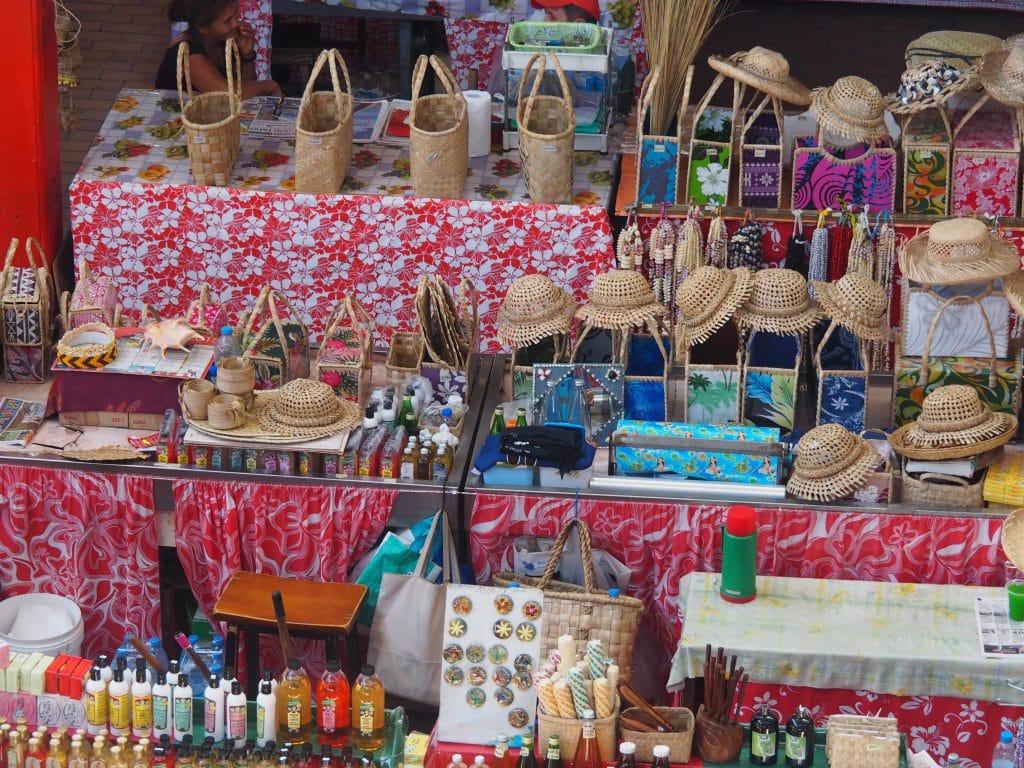 Les produits locaux de Tahiti.