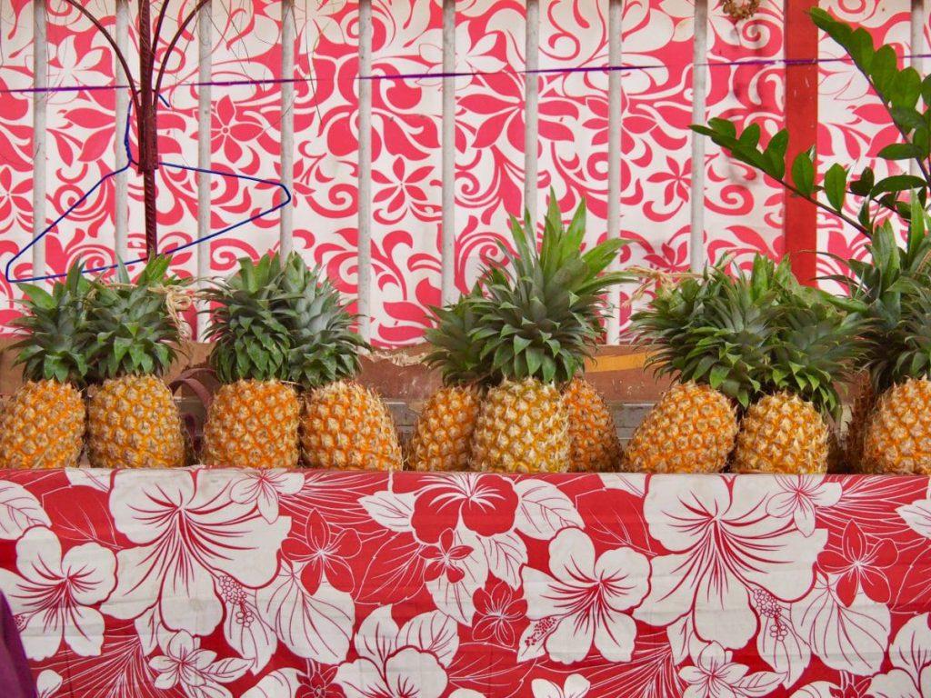 Le marché de Tahiti.