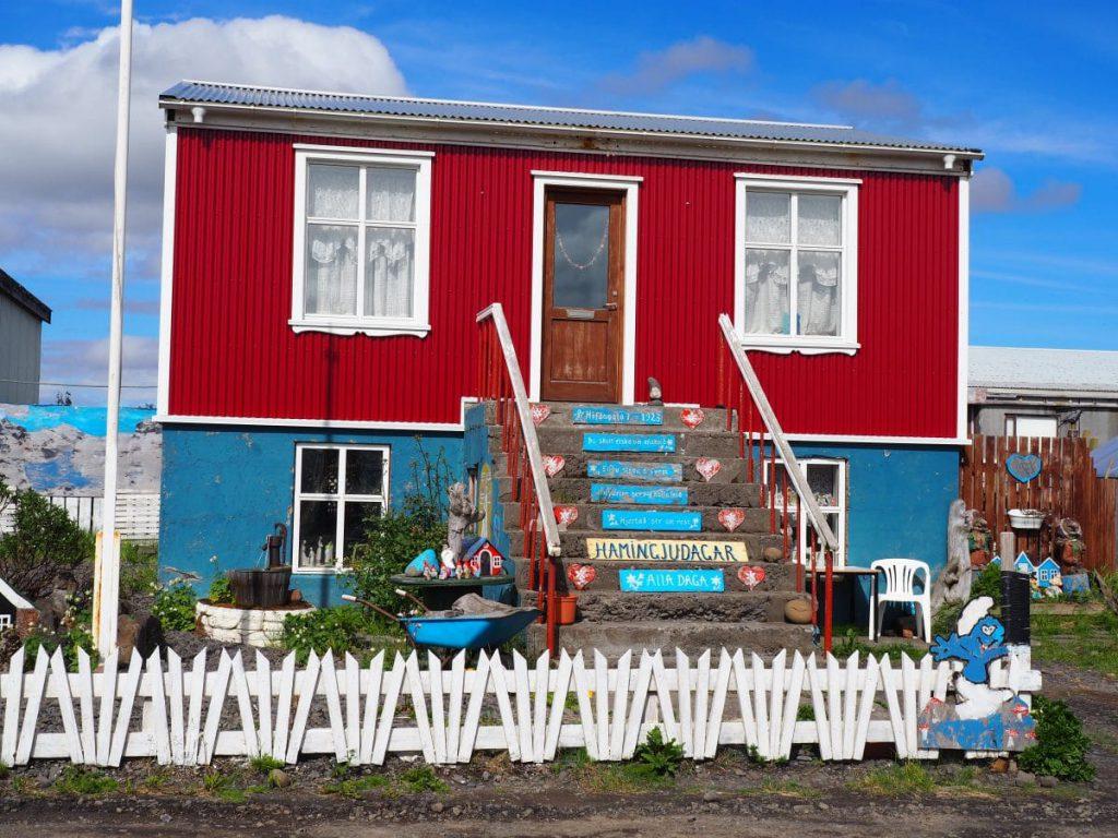 Les maisons colorées d'Holmavik