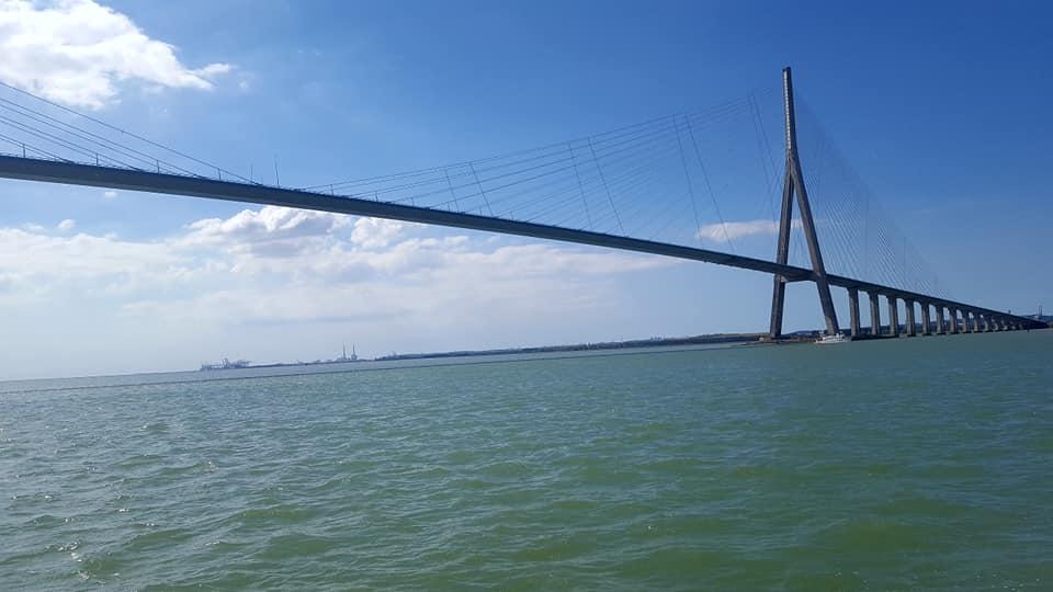 Le pont de Normandie. Depuis Honfleur.